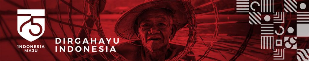 Banner HUT RI Merah