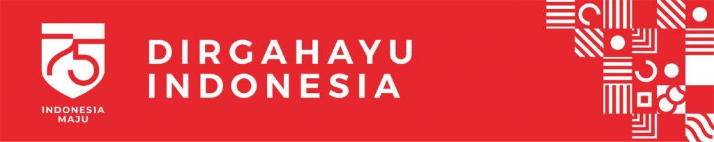 Banner HUT RI Merah Tanpa Foto
