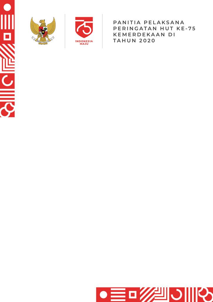 Desain Undangan HUT RI ke-75 Tahun 2020