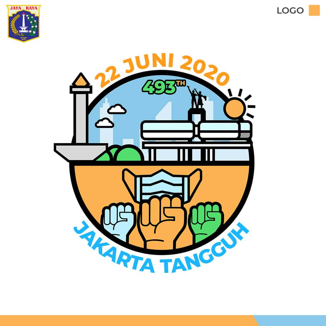 Desain Banner Sosmed HUT DKI Jakarta Ke-493
