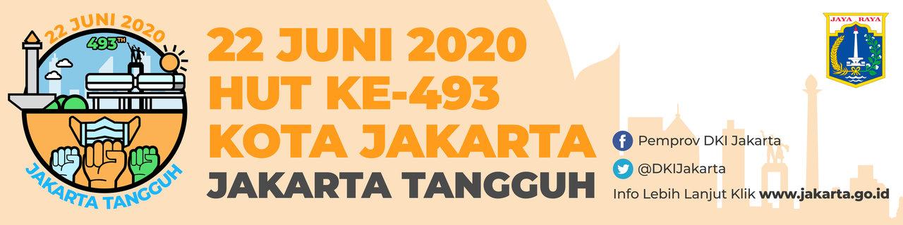 Desain Spanduk HUT DKI Jakarta ke-493 Tahun 2020