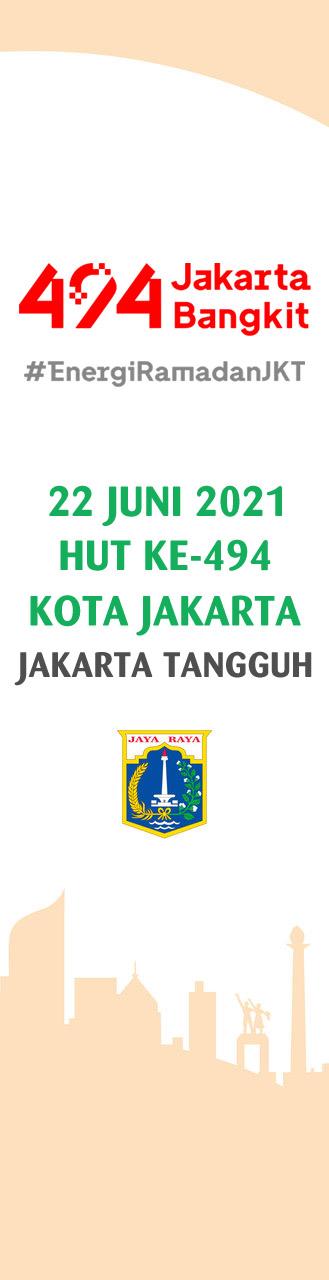 Umbul-umbul HUT Jakarta ke-494